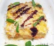 Лазанья с лососем
