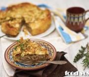 Хрустящий пирог  с начинкой из мраморной говядины и картофеля