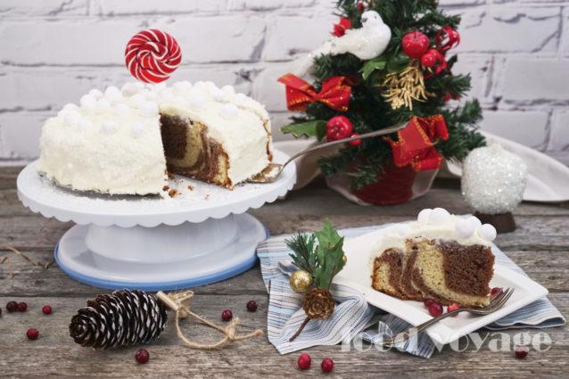 Торт «Мрамор под снежной шубой»