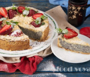 Песочный пирог с творогом и маком