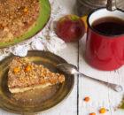 Песочный яблочный пирог с облепихой